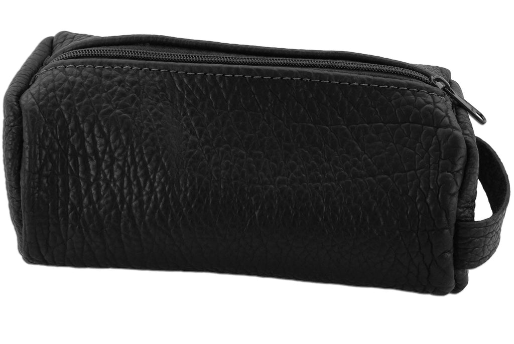 Bullhide Belts Black American Bison Travel Toiletry Zippered Bag