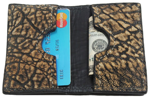 Bullhide Belts Genuine Tree Bark Elephant Credit Card & Business Card Wallet