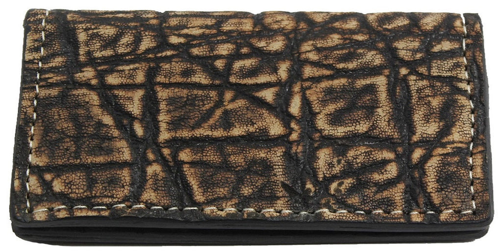 Genuine Tree Bark Elephant Checkbook Cover