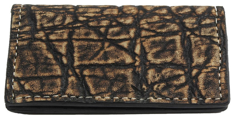 Bullhide Belts Genuine Tree Bark Elephant Checkbook Cover