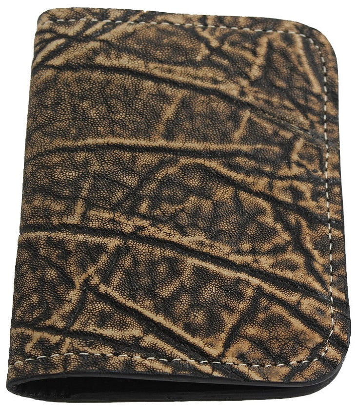 Genuine Tree Bark Elephant Passport Wallet