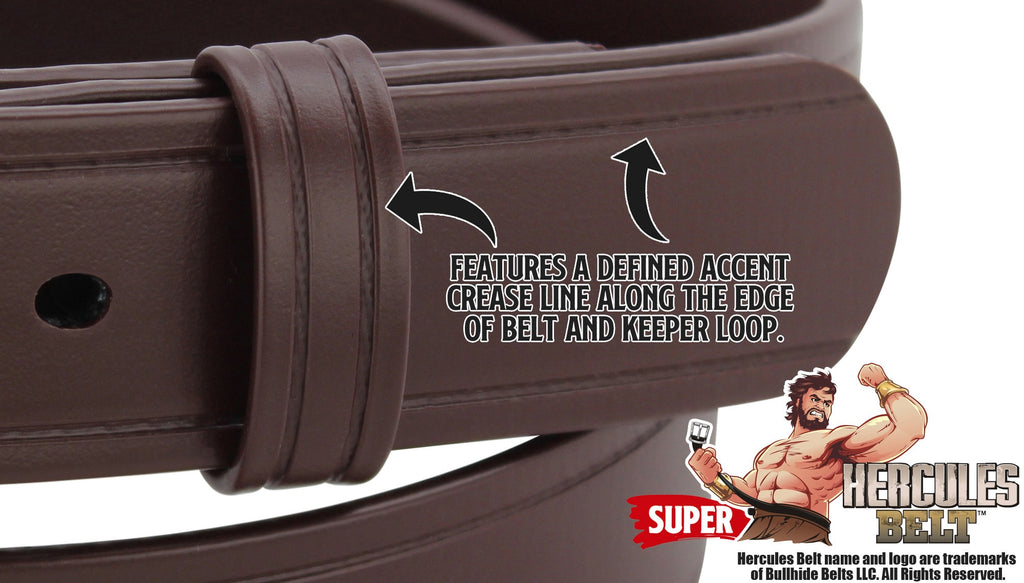 Bullhide Belts Brown SUPER Hercules Belt (SKU SH505-BR)