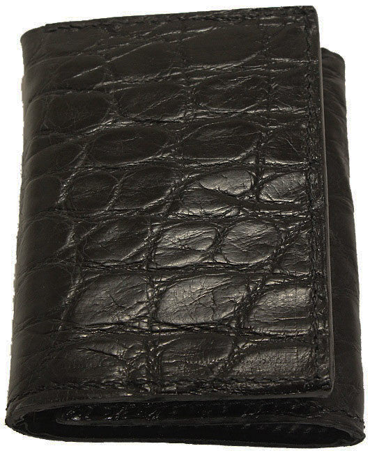 Bullhide Belts Black Alligator Trifold Wallet