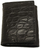 Bullhide Belts Genuine Black Alligator Trifold Wallet
