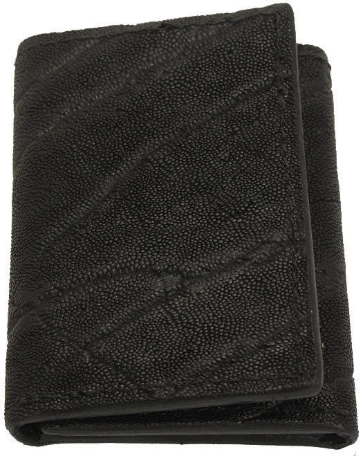 Bullhide Belts Genuine Black Elephant Trifold Wallet