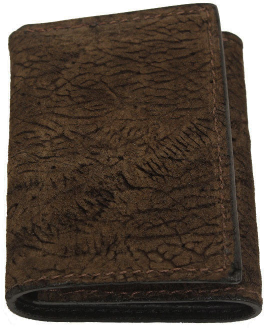 Bullhide Belts Genuine Brown Hippopotamus Trifold Wallet