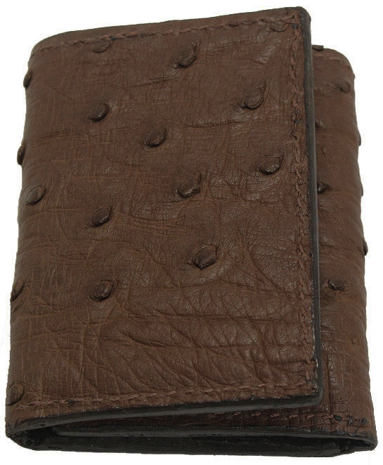 Bullhide Belts Genuine Brown Ostrich Trifold Wallet