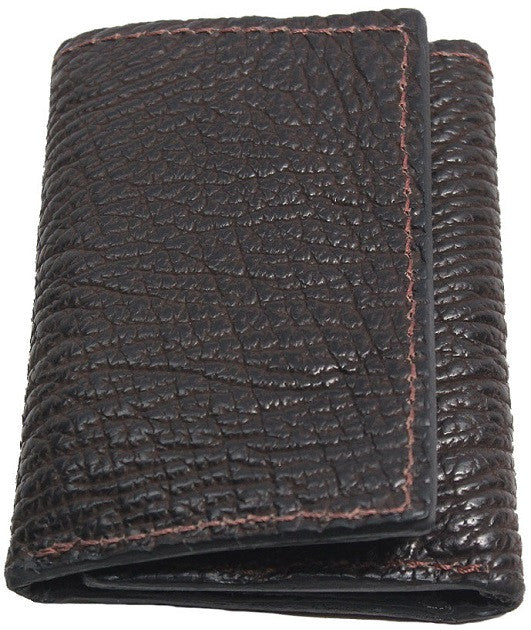 Bullhide Belts Genuine Brown Shark Trifold Wallet