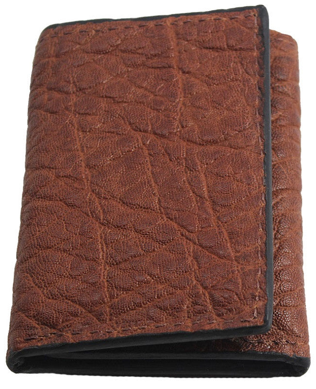 Bullhide Belts Genuine Caramel Brown Elephant Trifold Wallet