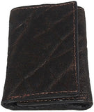 Bullhide Belts Genuine Dark Brown Elephant Trifold Wallet