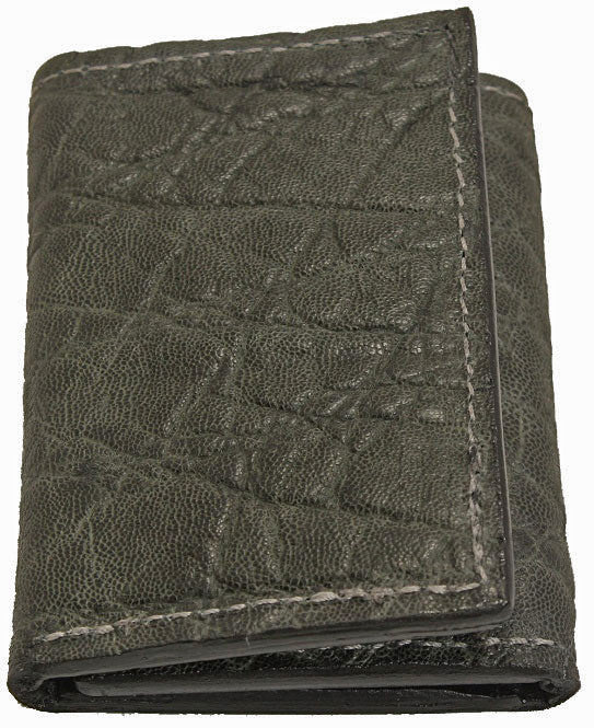 Bullhide Belts Genuine Charcoal Grey Elephant Trifold Wallet