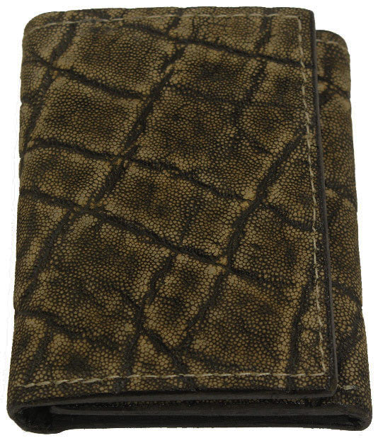 Bullhide Belts Tree Bark Elephant Trifold Wallet