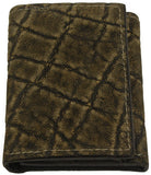 Genuine Tree Bark Elephant Trifold Wallet