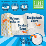 Disposable Dog Male Wraps | X-SMALL