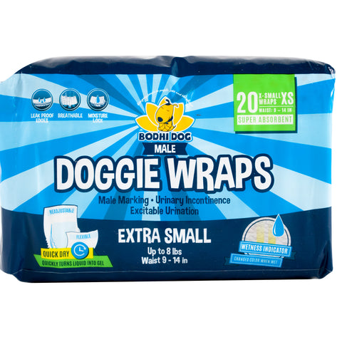 Disposable Dog Male Wraps | Extra-Small-Extra-Large