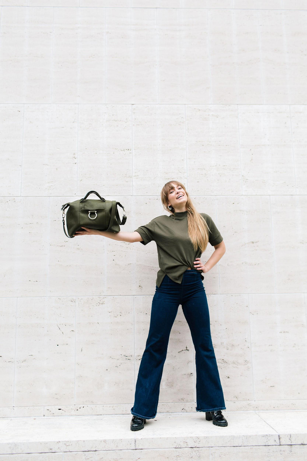 Weekend Handbag in 2020 Fall/Winter Color Military Green