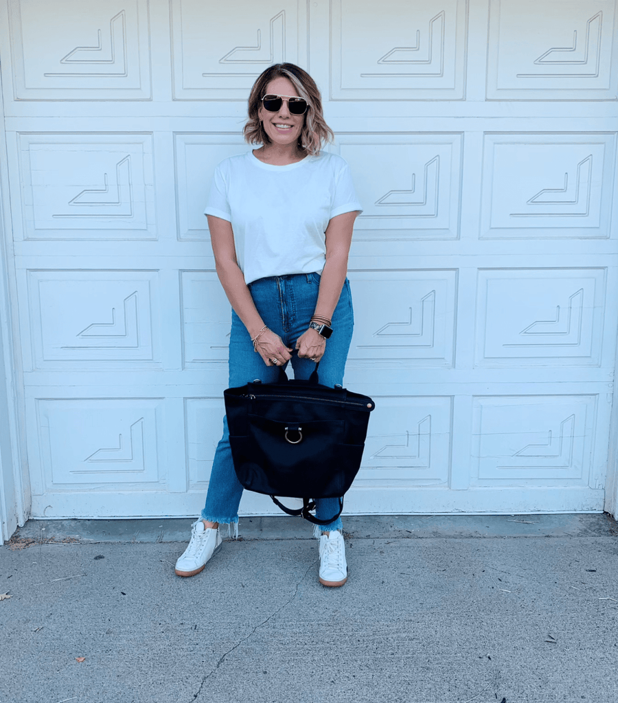 Nastasha backpack in black is a great carryall for fall