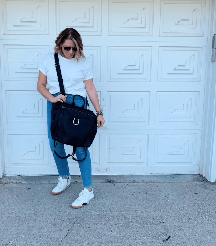 Add a strap to Natasha for a great carryall crossbody