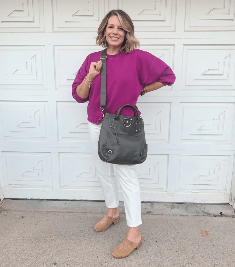 Chloe backpack converts to a perfect sized crossbody for work