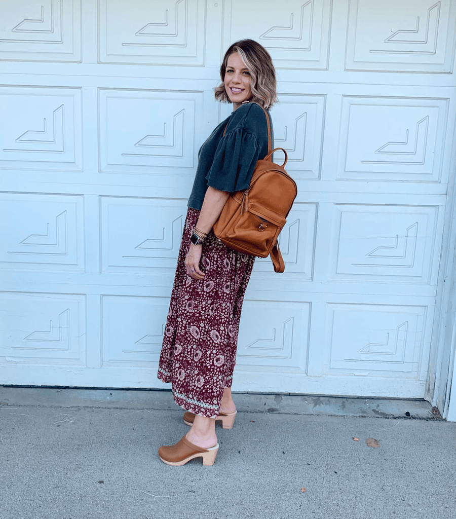 Amelia backpack in whisky