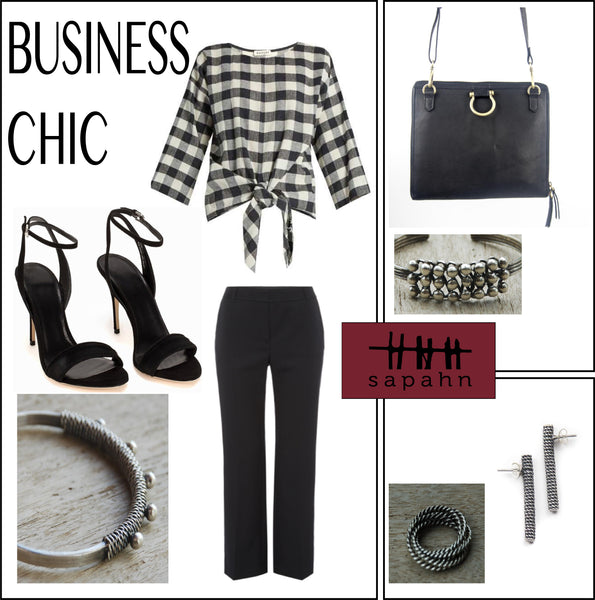 Business Chic style board featuring sapahn