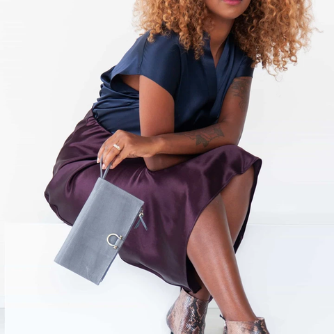 Parker wristlet wallet in ultimate gray elevates any outfit