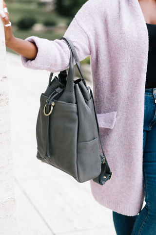 Addis leather backpack back to school