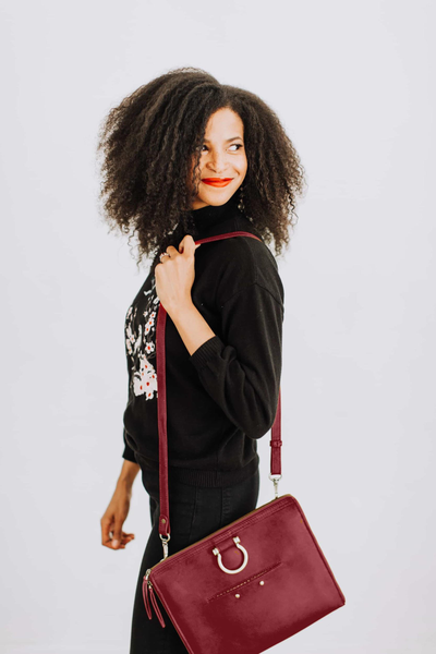 Leather crossbody in 2020 Fall/Winter Color Red