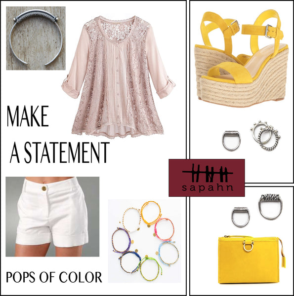 Make a Statement style guide featuring Sapahn