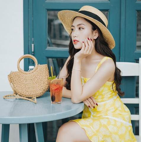 Illuminating yellow is a dreamy choice for a sundress