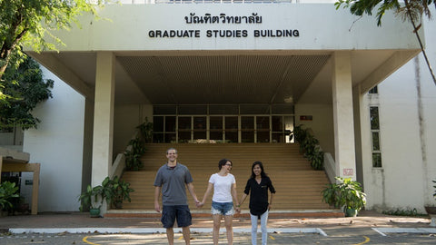 Matt and Brooke Mullen with Burmese woman Marie Tu, recipient of a Sapahn scholarship for higher education