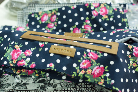 Surprise floral lining in a Sapahn bag