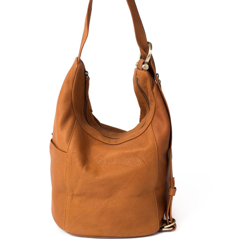 Kiely Leather Convertible Crossbody Backpack
