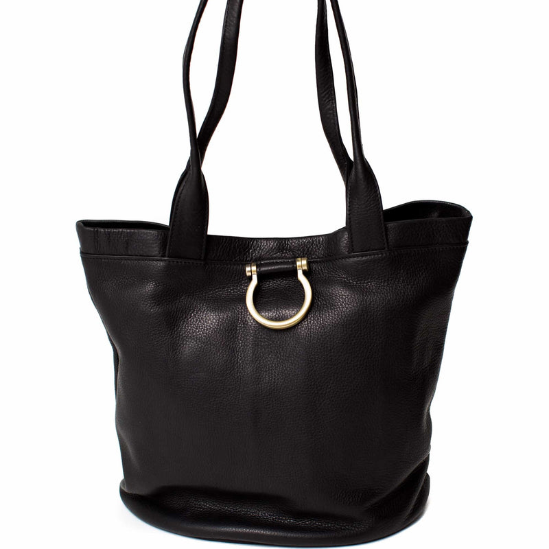 Nettie Leather Shopper Tote
