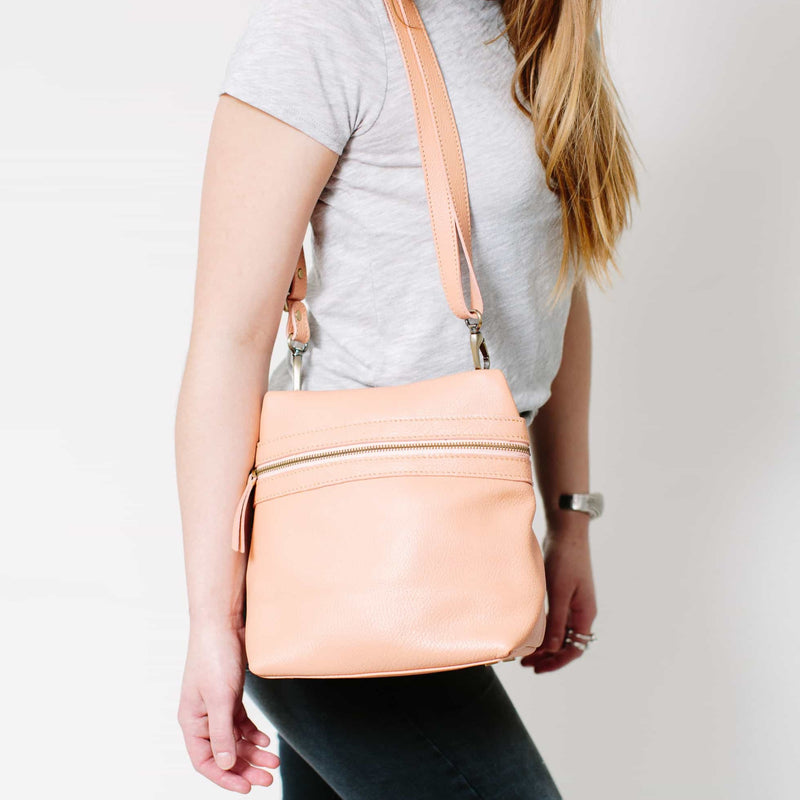 Pepper Leather Crossbody Convertible Backpack