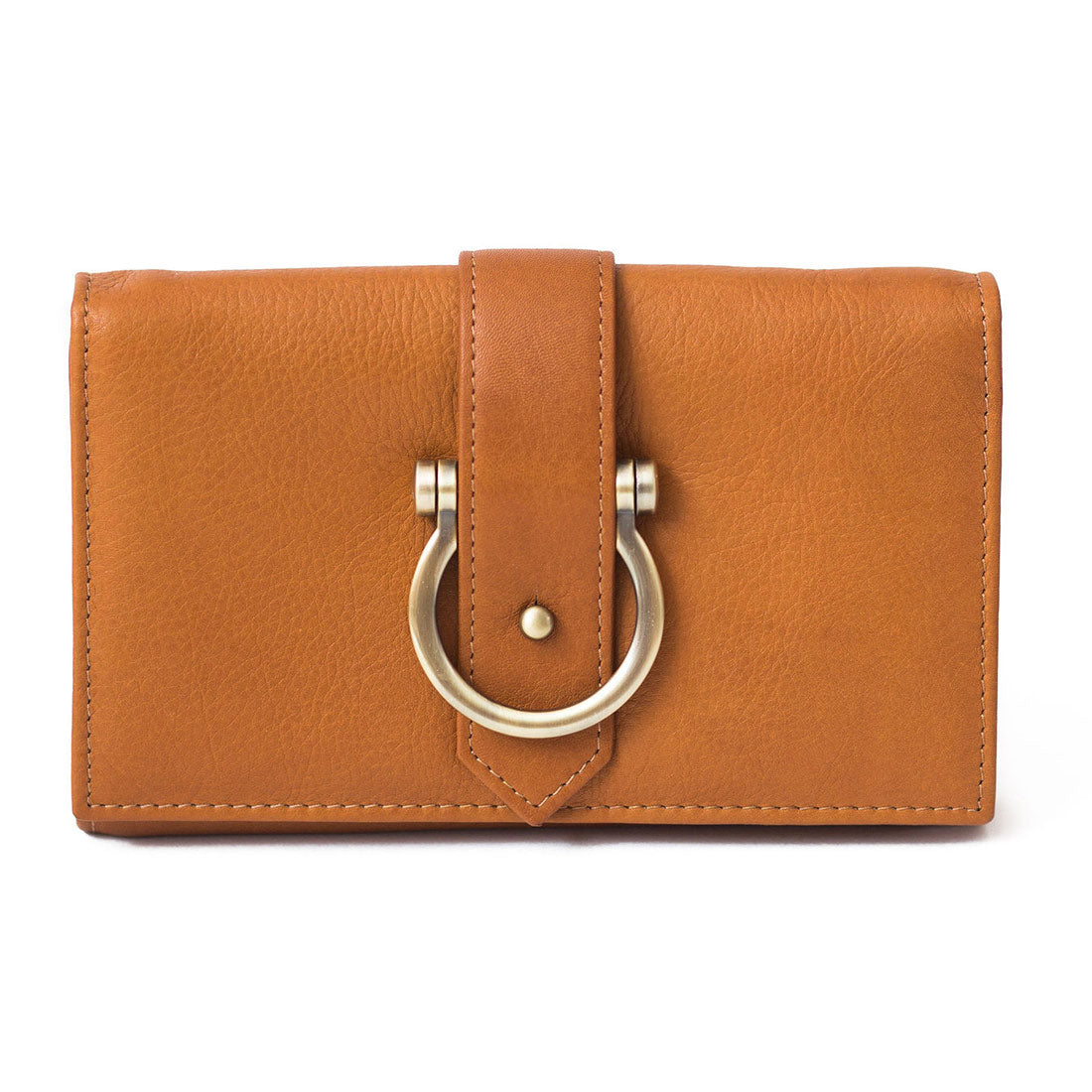Staney Leather Crossbody Wristlet Wallet