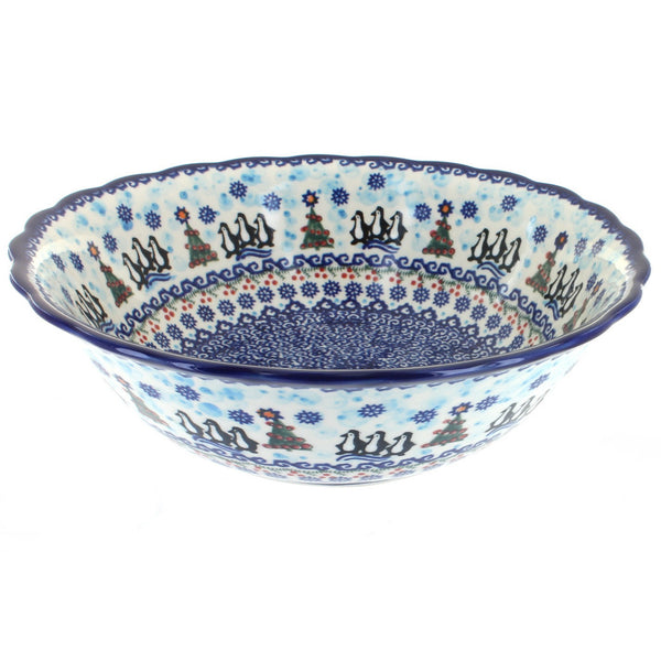 Vena Large Scalloped Edge Bowl