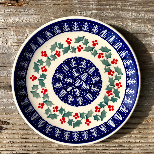 Holly Berry Plate 7.25""