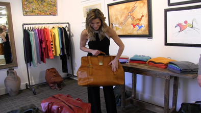 Luca's Boutique: Naturally dyed travel bags.