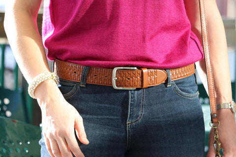 Stamped Leather Belt