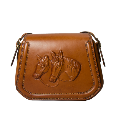 Reginetta Equestrian Small Shoulder Bag, front view - LUCA Boutique