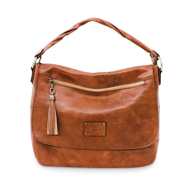 Laura - Italian vegetable tanned leather crossbody