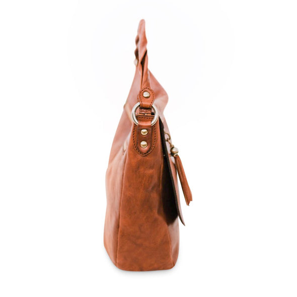 Laura - Italian vegetable tanned leather crossbody (2483120668757)