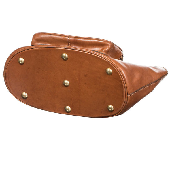 Equestrian Dog Leather Carrier, embossed with dog, bottom view - LUCA Boutique (2553118851157)
