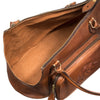 Equestrian Dog Leather Carrier, embossed with dog, inside view - LUCA Boutique