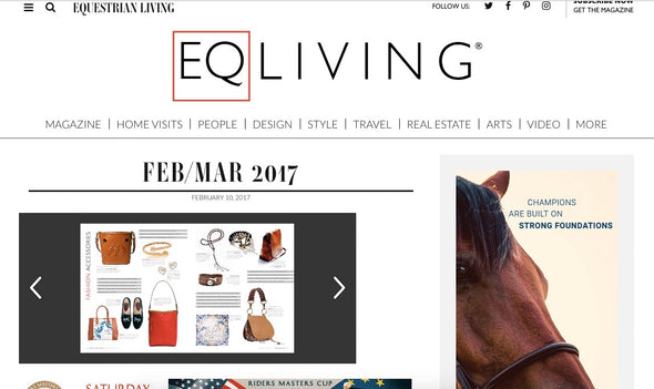 Ottavia Equestrian Leather Bucket Bag, hard case, embossed horses featured in EQLiving Magazine - LUCA Boutique (2552926208085)