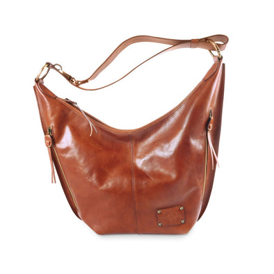 Greta bag - vegetable tanned leather hobo bag (2483122470997)