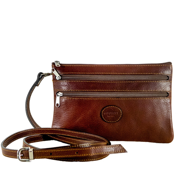 Emma crossbody - vegetable tanned leather