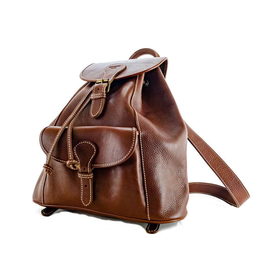 Urban Backpack - Vacchetta leather Made in Rome Italy