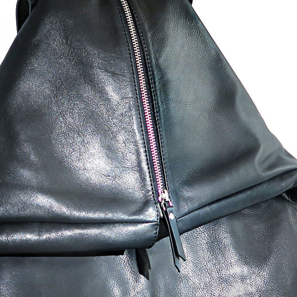 Architect Italian Leather Backpack, close up - at LUCA Boutique (2534544244821)